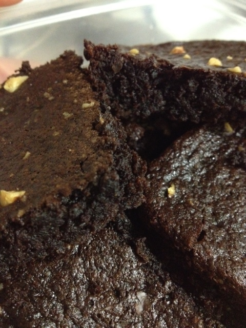 two-bite size brownie